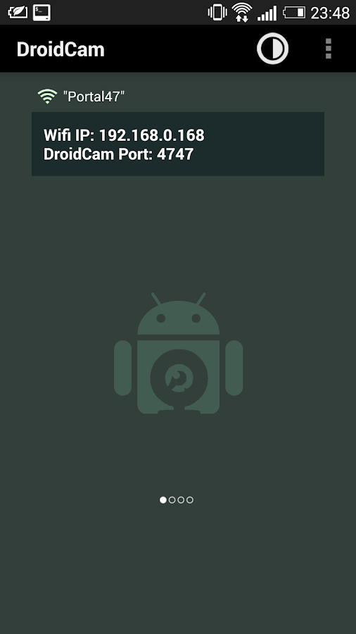 DroidCam Wireless Webcam: captura de pantalla