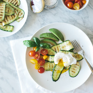 Poached Egg with Truffle Salt Grilled Zucchini