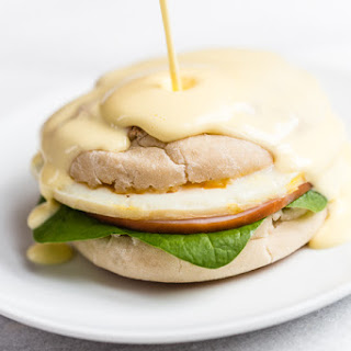 Eggs Benedict Breakfast Sandwich.