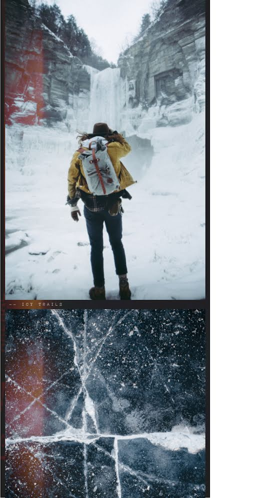 Frozen Waterfall - Facebook Story Template