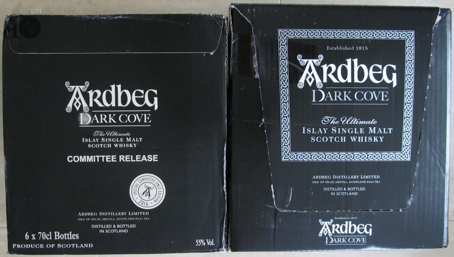 Ardbeg Dark Cove cartons