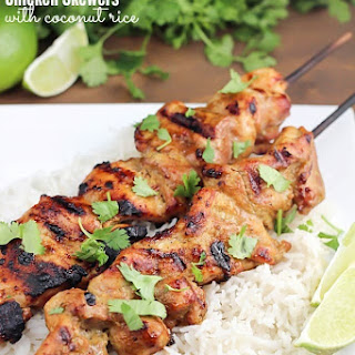 Thai Coconut Chicken Skewers.