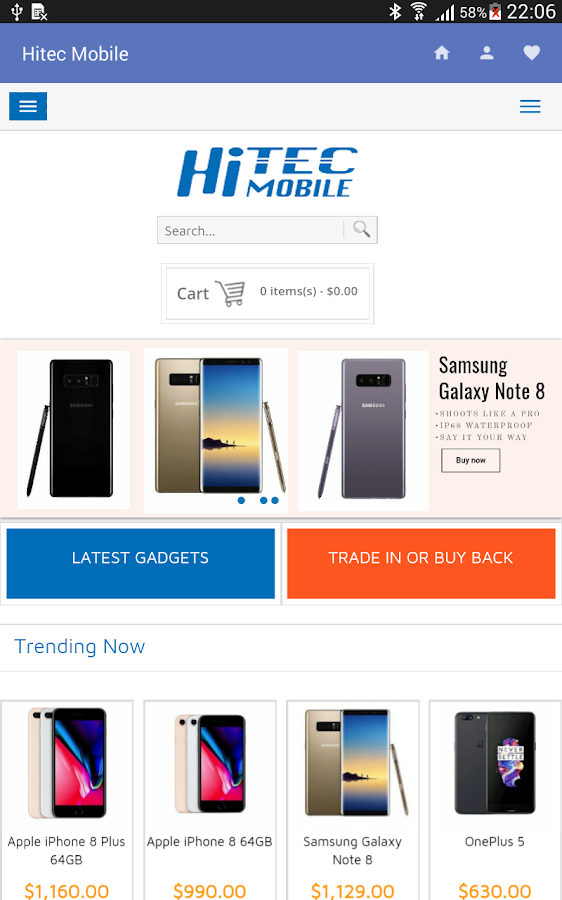 Hitec Mobile Online Shopping App- screenshot