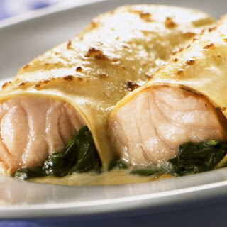 Salmon and Spinach Cannelloni.