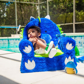 Chubby Monster 6 by Malik Marcell - Babies & Children Babies ( shades, monster, pool, blue, florida, infant, chubby, baby, relaxing, orange juice, gerber, kairo )