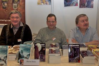 Photo: Pierre Stolze, Jérôme Baud et Raymond Milési présentent Armada, une nouvelle maison d'édition