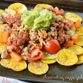 Ground Turkey Plantain Nachos.