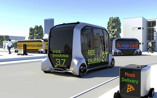 Toyota unveiled its e-Palette mobility and transportation pod. Picture: NEWSPRESS USA