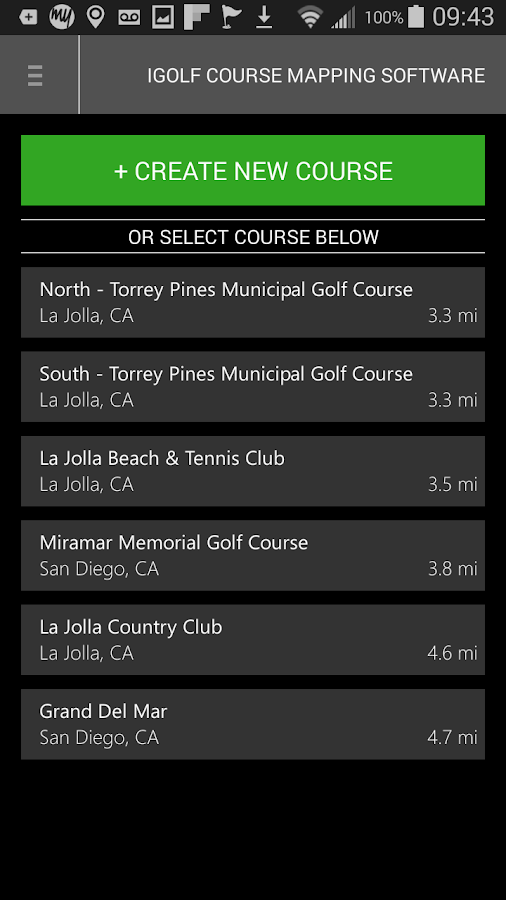 iGolf Course Mapping Software- screenshot
