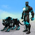 Flying Panther Robot Hero Game:City Rescue Mission icon
