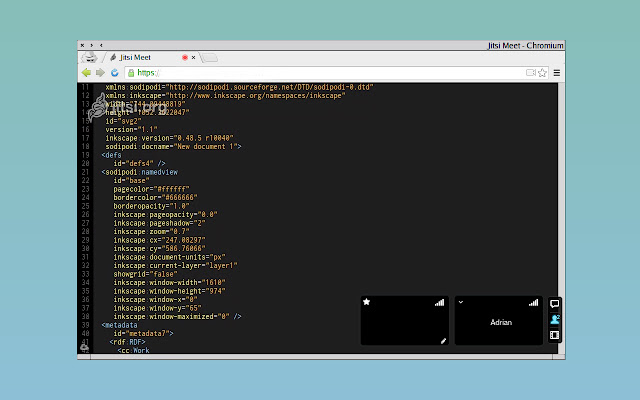 Jitsi desktop streamer for Beautiful Rising