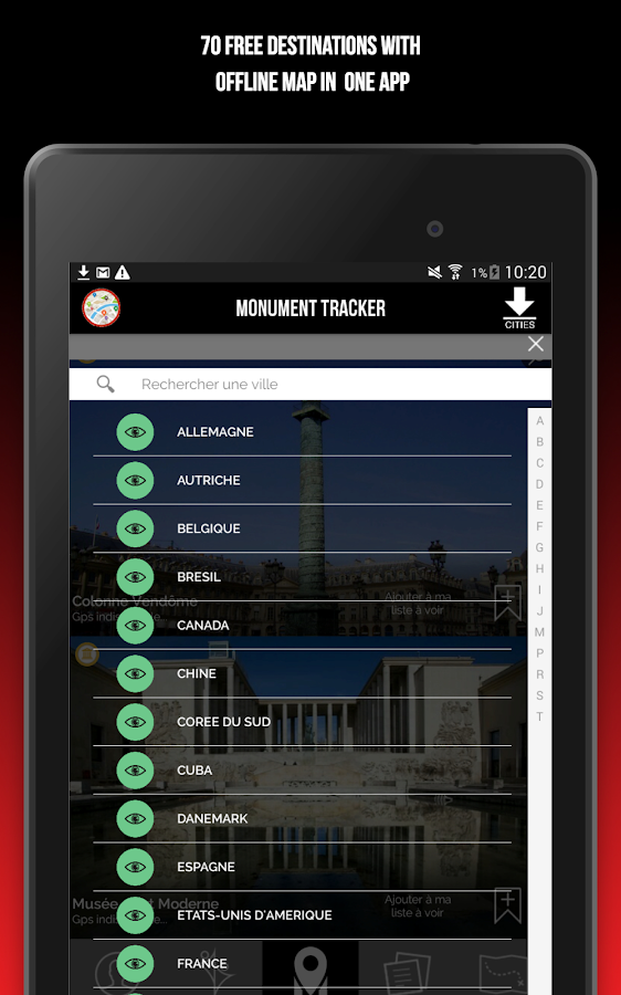 Monument Tracker World Guide- screenshot