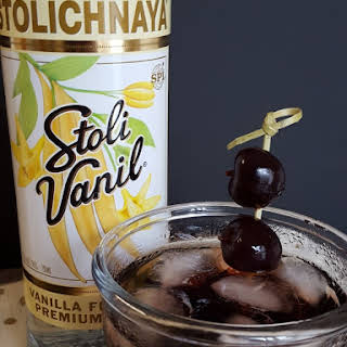 Cherry Vanilla Vodka Cola Cocktail.