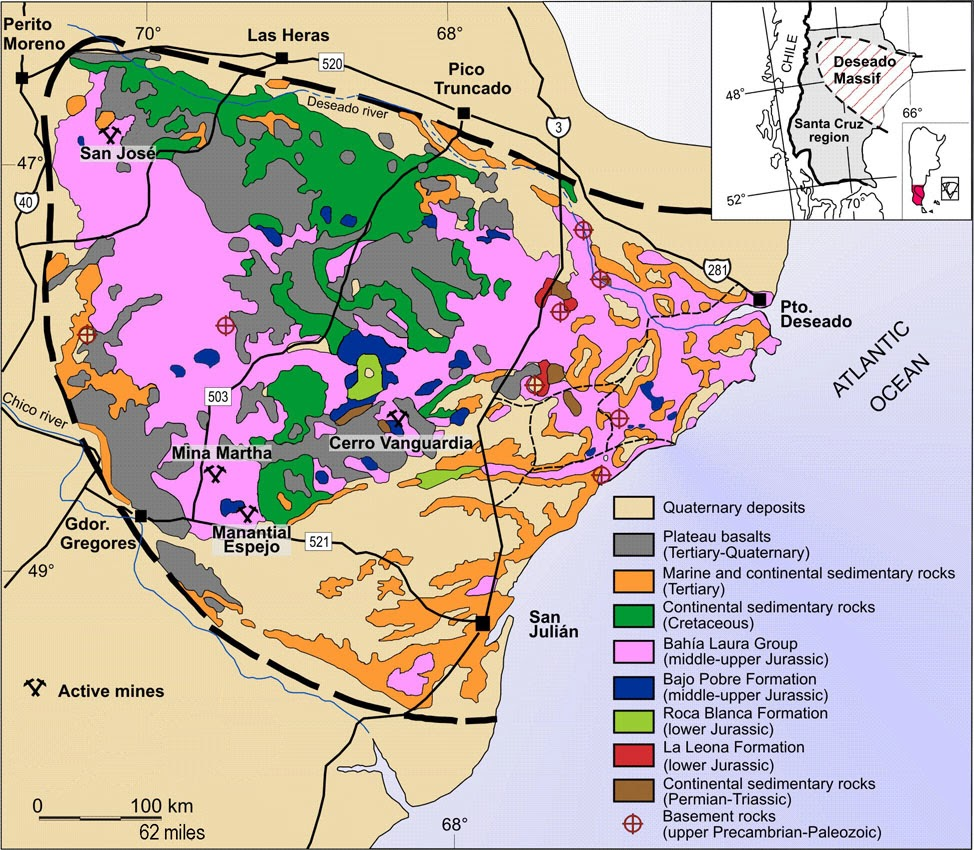 Geology of the Deseado Massif, Argentina