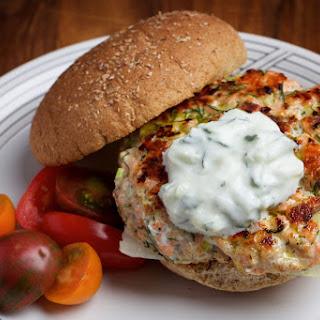 Salmon Burgers With Tzatziki Sauce