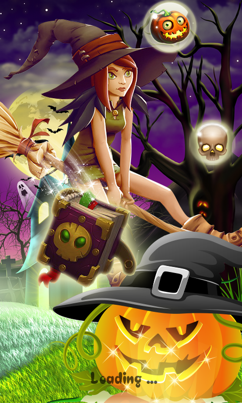 Halloween Witch - Fruit Puzzle- screenshot