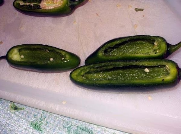 """If you dont have a pepper rack you can cook them """"canoe"""" style. Just..."""