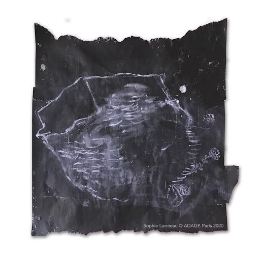 melancolie_sophie_lormeau_artiste_peintre_femme_art_contemporain_singulier_brut_figuratif_noir_blanc_peinture_acrylique_papier_magazine_dessin_maison_racine_adagp_paris_2020_OMBRES_©