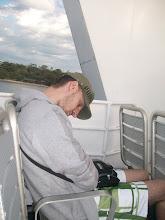 Photo: Berna dorme sul traghetto