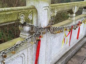 Photo: 縁結びの鍵なのだとか。