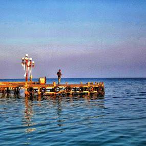 Sore di Kep Seribu by Frans Priyo - Uncategorized All Uncategorized ( water, reflection, sunser, sea, beach, evening, lonely )