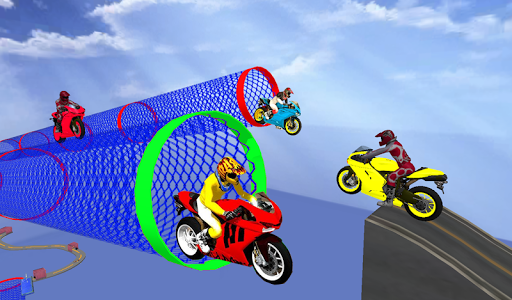 Racing In Moto Bike Stunt : Impossible Road Game game (apk) free download for Android/PC/Windows screenshot