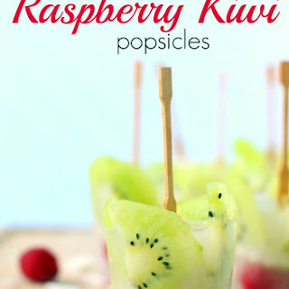 No Sugar Added Raspberry Kiwi Popsicles.