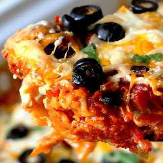 Slow Cooker 5-Cheese Taco Lasagna.