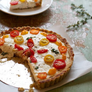 Rustic Tomato and Cheese Margherita Tarts.