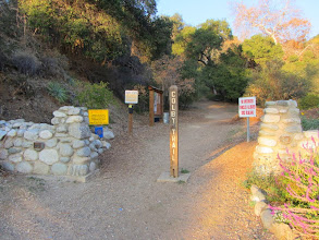 Photo: 4:02 - Finish hike at the Colby Trail trailhead at the top of Loraine Avenue in Glendora. It's 68 degrees.