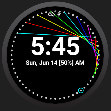 Tiny Laser Watch Face - screenshot