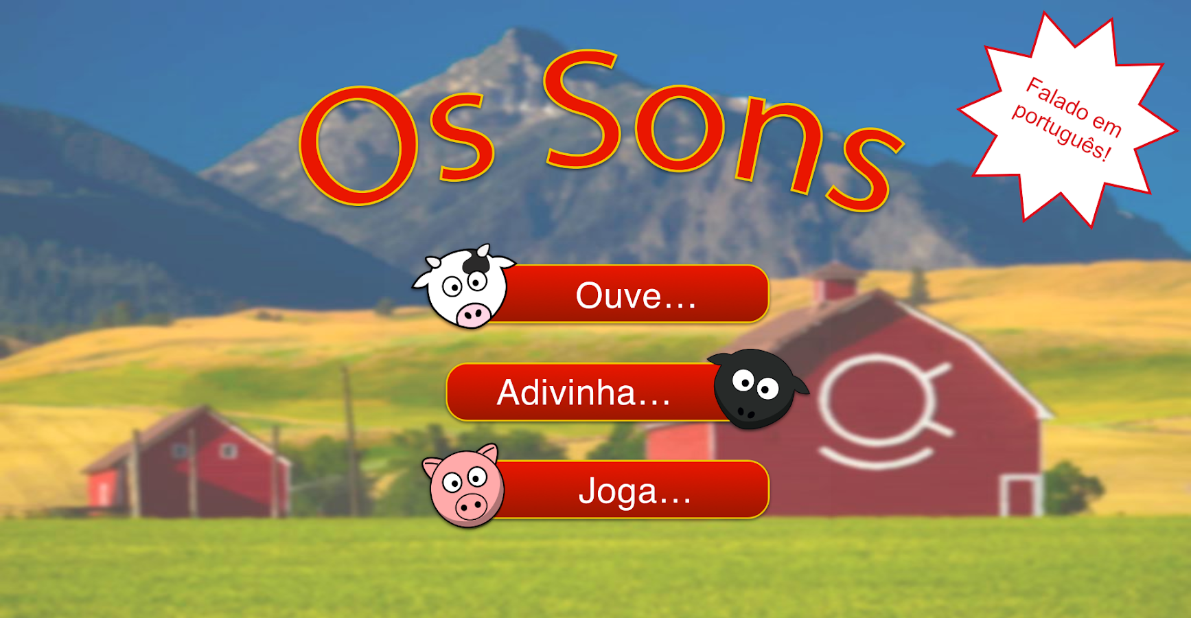 Os sons– captura de ecrã