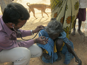 Photo: A disabled lady offered help at a Medical camp in Nallaguntlabodu Chenchu Gudem on 28th Oct 2012