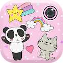 Cute Photo Editor with Stickers icon