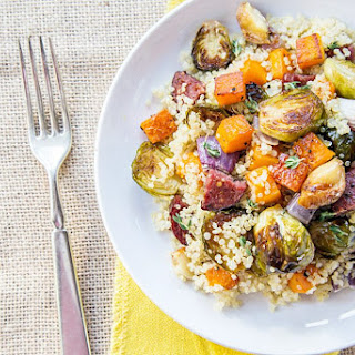 Warm Quinoa Salad with Roasted Vegetables & Beef Summer Sausage