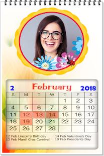 2018 Calendar photo frame wallpaper - náhled
