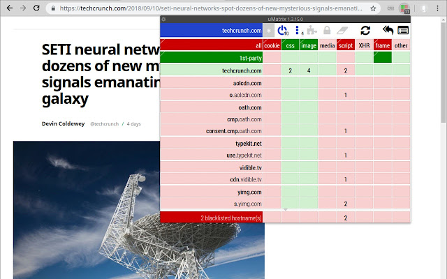 uMatrix development build