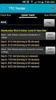 Screenshot of TTC Tracker