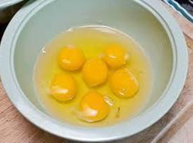 Fry the eggs while stirring gently. Return the vegetable and ham mixture to the...