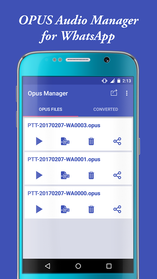 Audio Manager for OPUS to MP3- screenshot