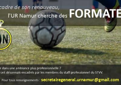 L'UR Namur recherche des entraîneurs pour ses équipes de jeunes
