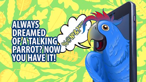 Tease talking parrot