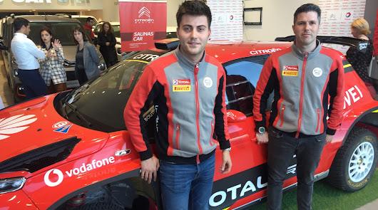 El campeón de España de Ralis, Pepe López en Citroën Salinas Car