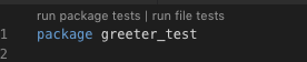 Running package tests