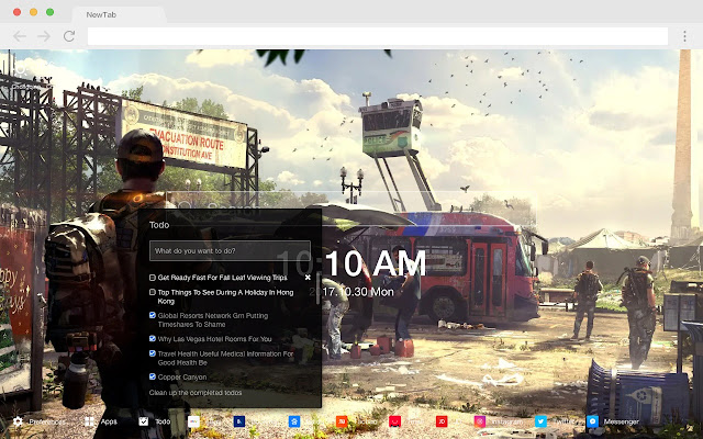 The Division 2 Beta Popular HD New Tab Theme