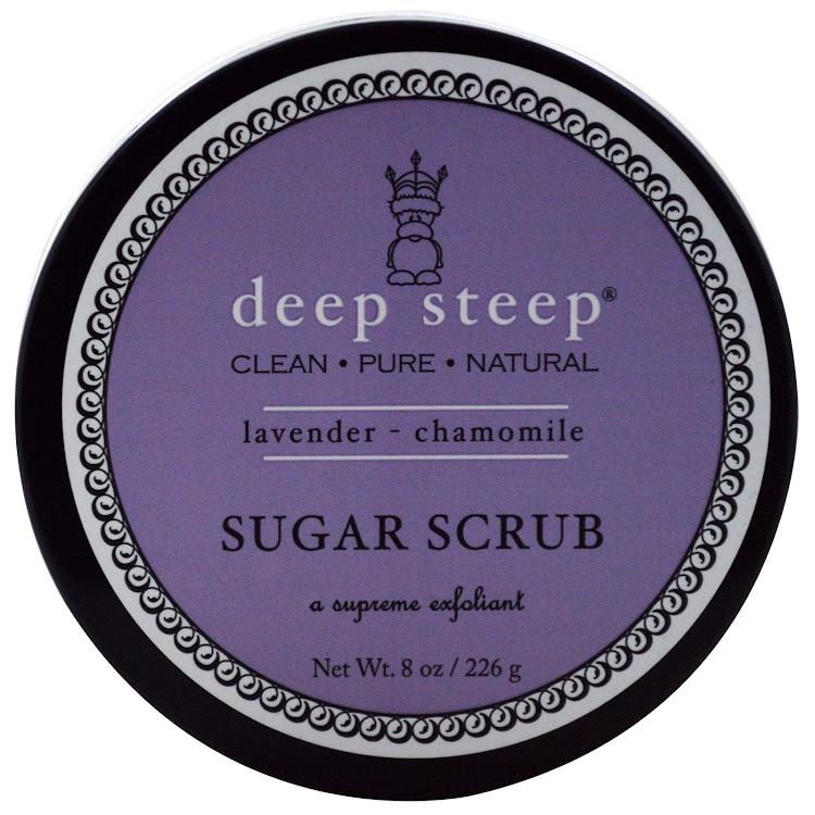 Deep Steep, Organic Sugar Scrub, Lavender - Chamomile, 8 oz (226 g) by Supermodels Secrets