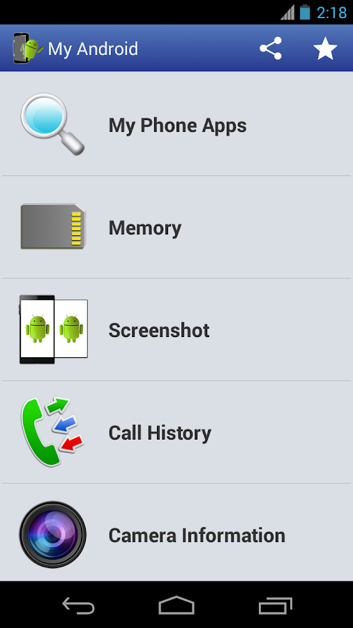 Screenshots of My Android for Android