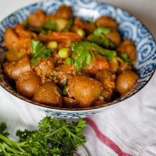 Vegan Bombay Potatoes.