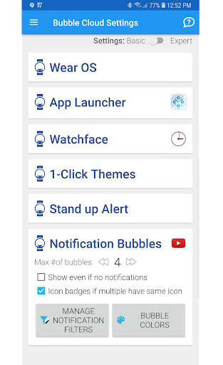 Screenshot for Notification Icons Watch Face Theme Status Bubbles in United States Play Store