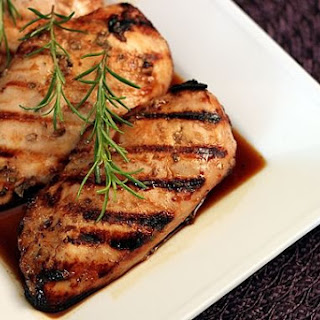 Grilled Chicken with Raspberry Herb Marinade